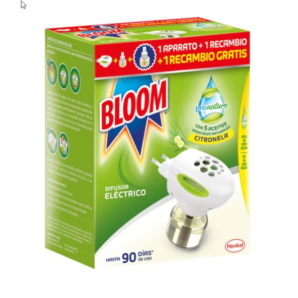 Bloom insecticida Pronature  1 difusor eléctrico +  2 recambios Citronela