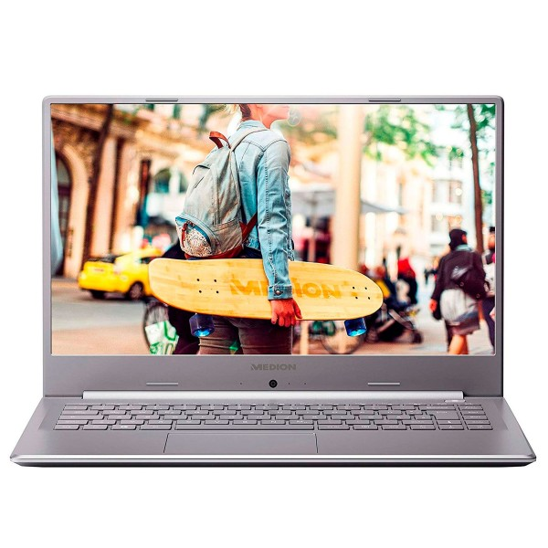 Medion e6247 md62006 plata portátil 15.6'' fullhd cel-n4020 256gb ssd 8gb ram windows 10 home