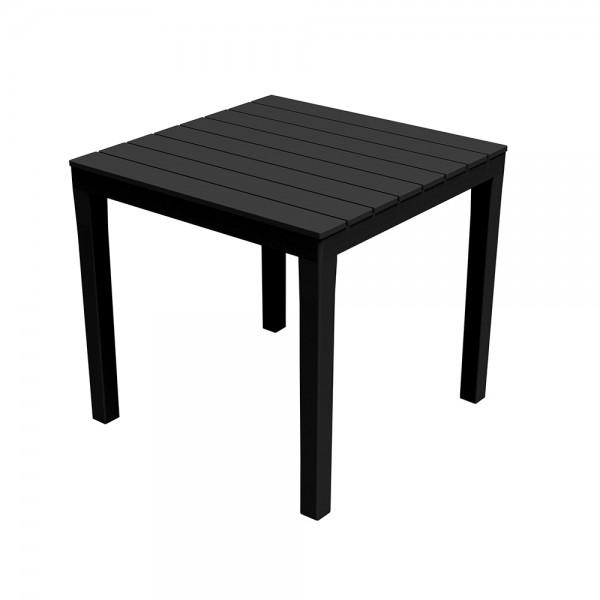 Mesa cuadrada color negro 78x78x72cm ipae progarden