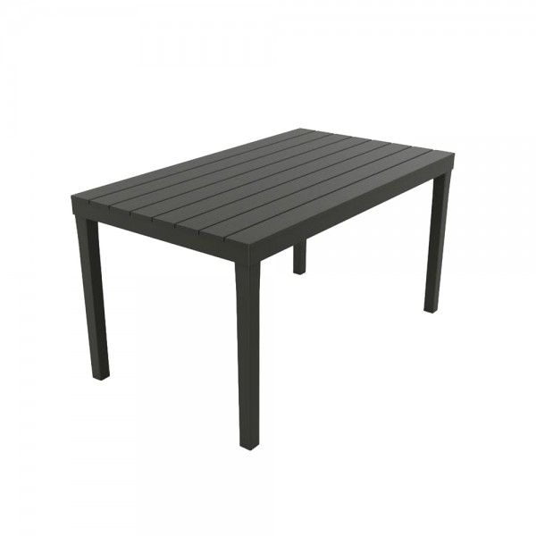 Mesa rectangular color negro 138x78x72cm ipae progarden