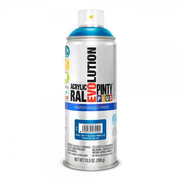 Pintura en spray pintyplus evolution water-based 520cc ral 5017 azul tráfico